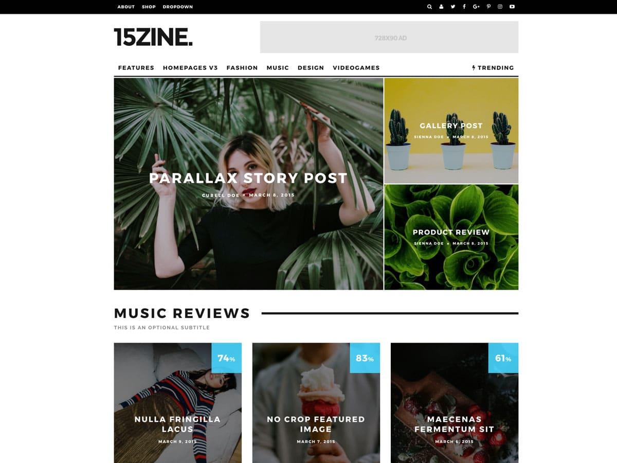 15zine wordpress blog tema