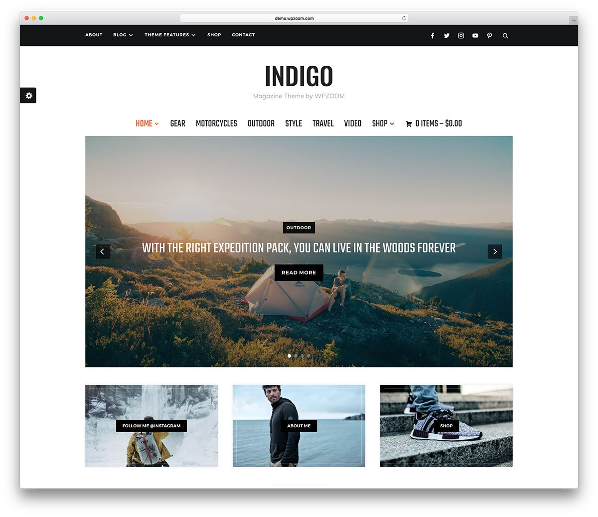 indigo wordpress blog temaları