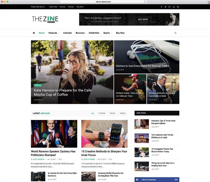 smartmag wordpress blog temaları