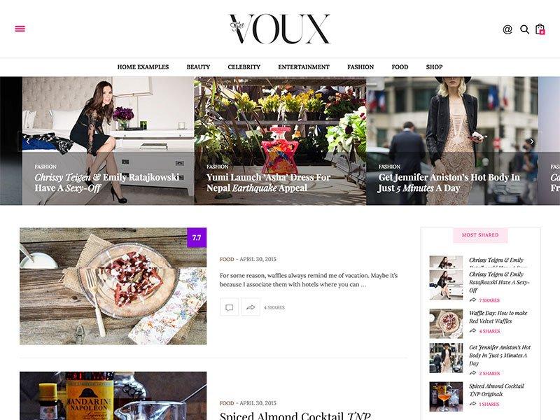 the voux wordpress moda blog tema