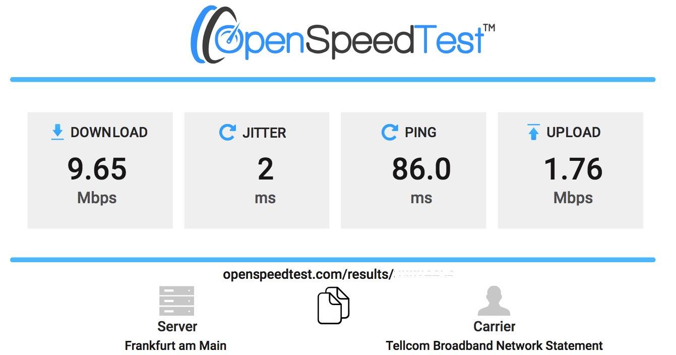 open speed test
