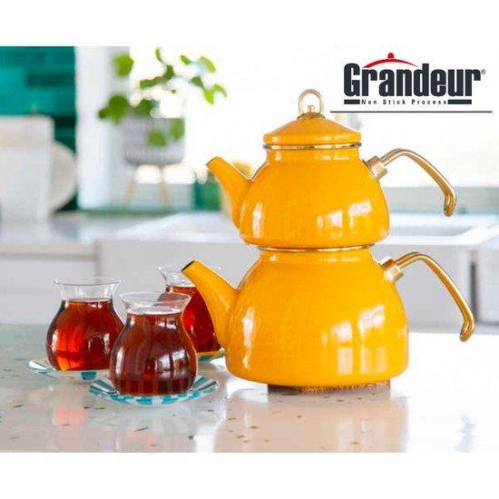 Grandeur Emaye Çaydanlık Bal Sarısı