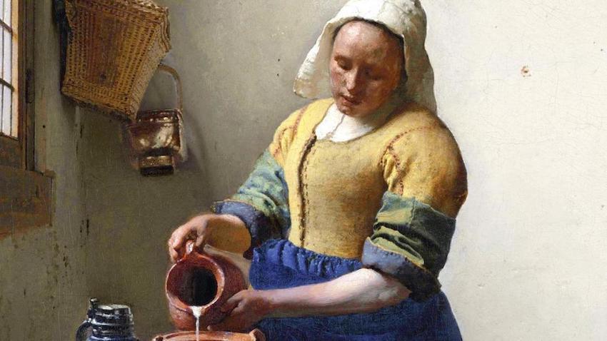 süt döken kadın